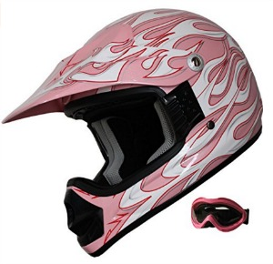 Kid ATV Motocross Dirt Bike Helmet DOT pink
