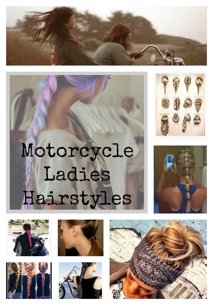 Ladies Hairstyles for the Motorcycle