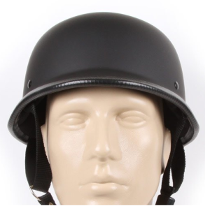 Low Profile Novelty German Half Helmet Skull Cap Matte Black