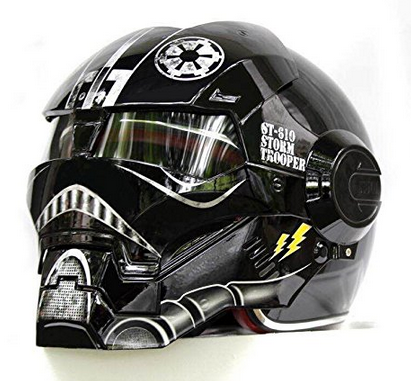 Masei 610 Matt Black Atomic Man Motorcycle Helmet