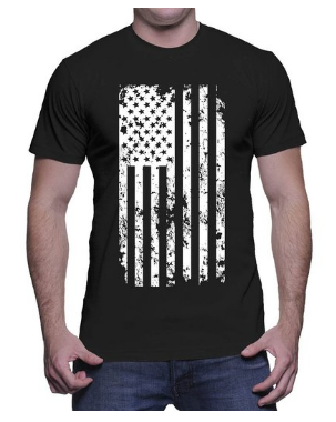 Mens Big White American Flag T shirt Clothing