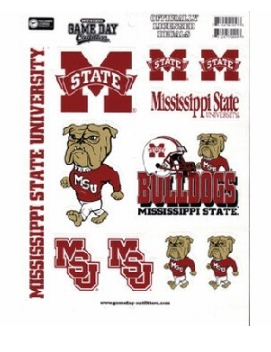 Mississippi State Bulldogs Full Page Vinyl Sticker