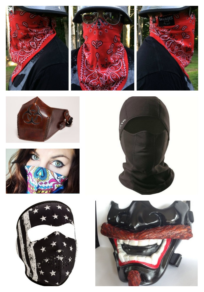 Motorcycle Face Mask Collage