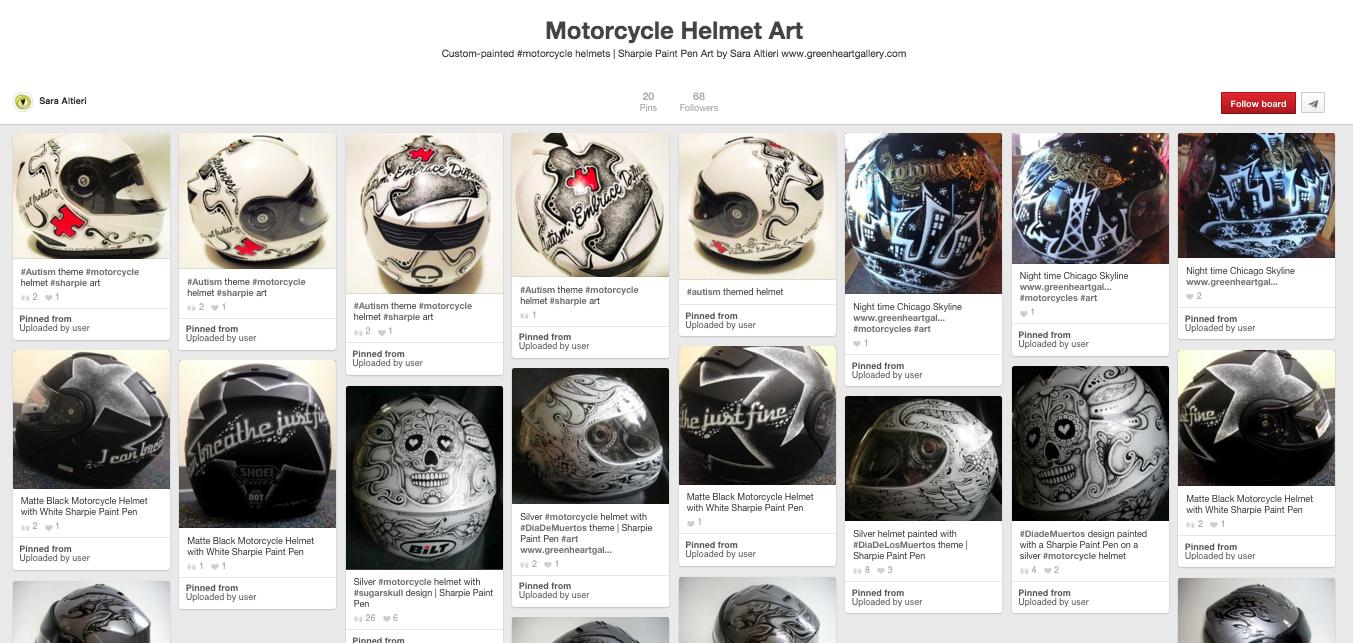 Motorcycle Helmet Art