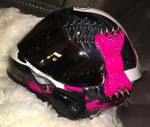 Motorcycle Helmet Accessories And Badass Addons - Pink motorcycle helmet decals