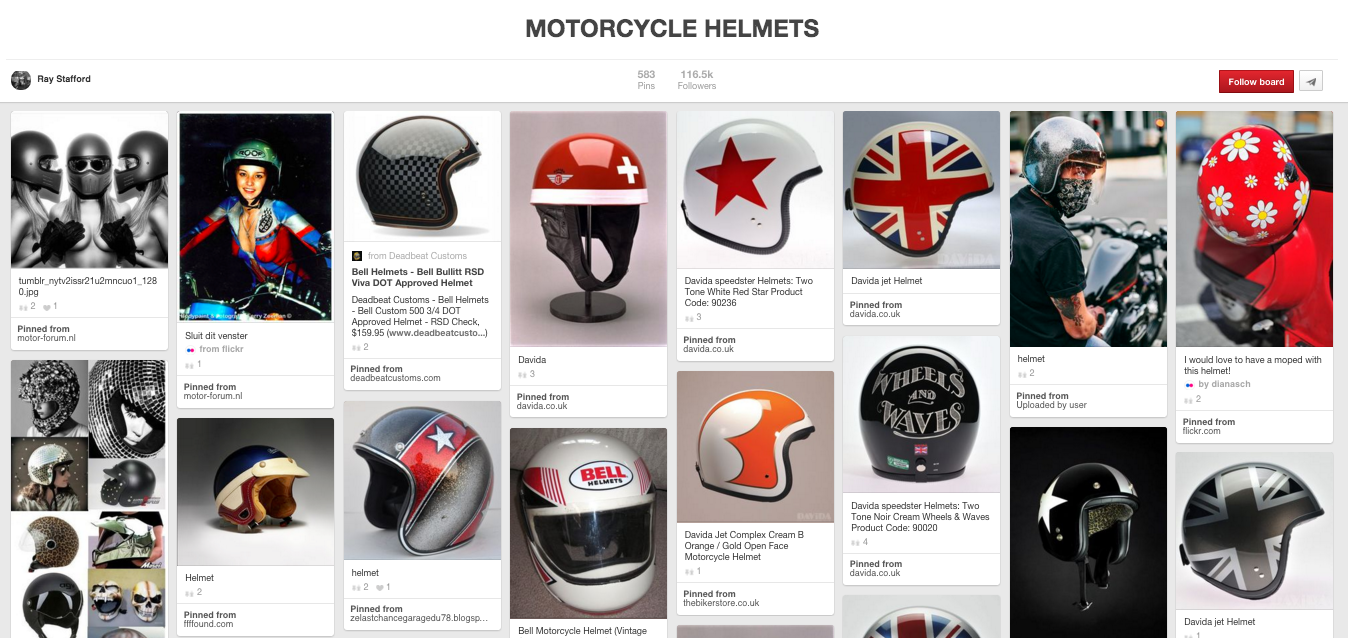 Motorcycle Helmets by Ray Stafford