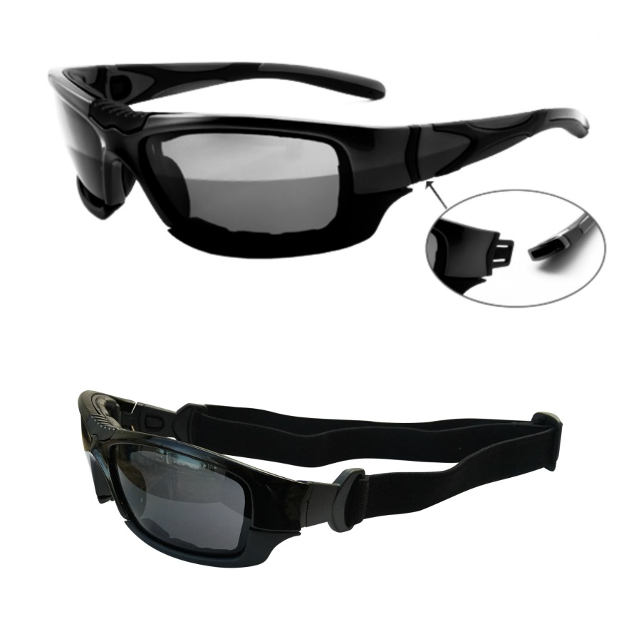 Motorcycle Riding Glasses to Goggles Pic