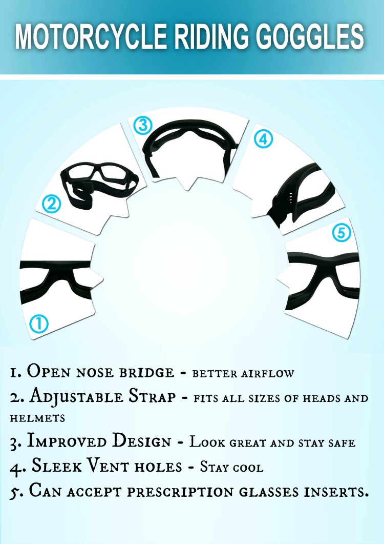 8e863732e4 Motorcycle riding goggles infographic picmonkeyed jpg 750x1061 Women  wearing motorcycle goggles