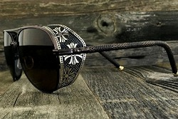 nikkieyewear-steampunk-aviator-sunglasses-embossed-intricate-details-side-shields-brown-frame-brown-lens
