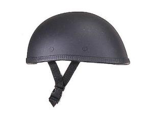 Novelty Eagle Flat Black Low Pro Motorcycle Helmet