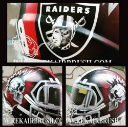 Oakland Raiders Airbrushed Motorcycle Helmet