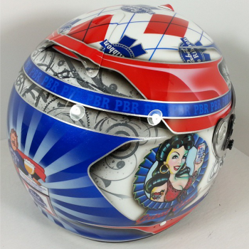 Pabst Beer helmet with pinup Photo by ballisticdesigns