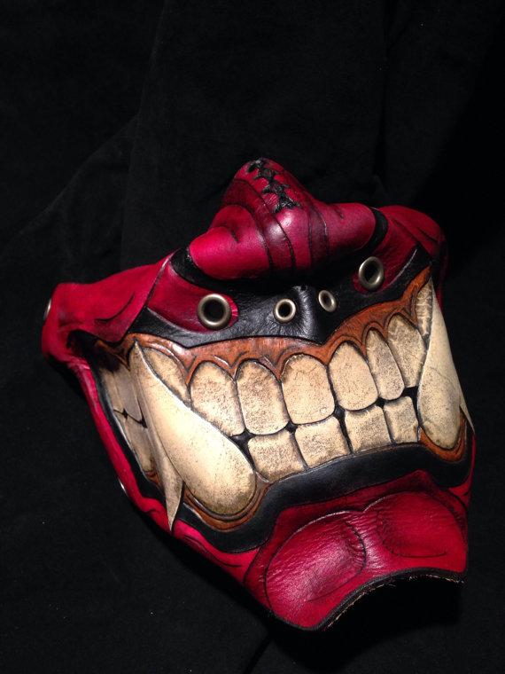 red-leather-oni-kabuki-half-mask