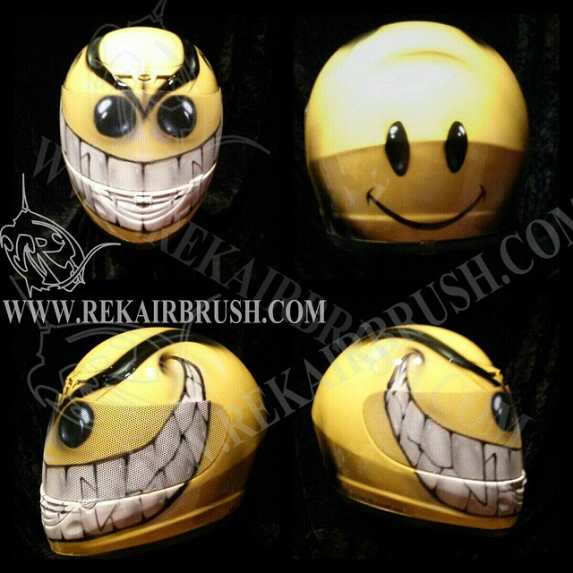 Smiley Face Motorcycle Helmets