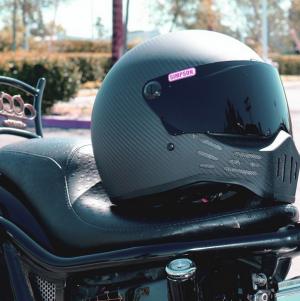 SIMPSON MOTORCYCLE HELMETS M30 MATTE CARBON FIBER