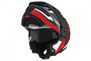 Schuberth E1 Motorcycle Helmet Red Open