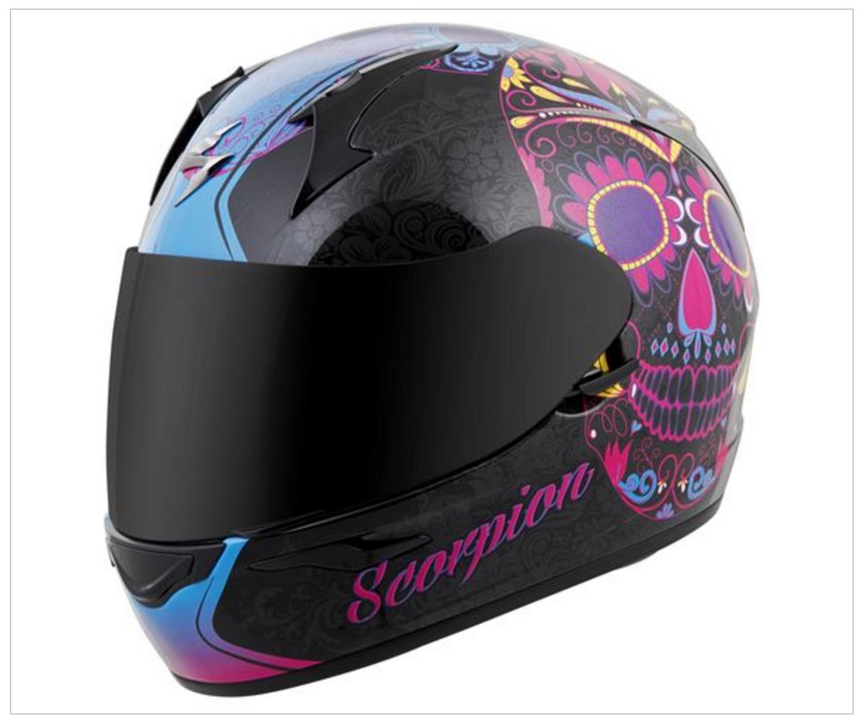 Sugar Skull Motorcycle Helmets