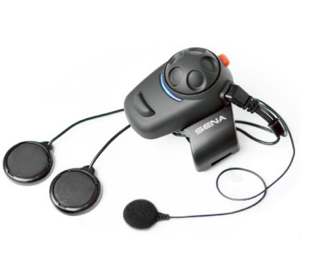 Sena SMH5 02 Low Profile Motorcycle and Scooter Bluetooth Headset Intercom for Full Face Helmets