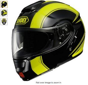 Shoei Neotec Borealis Modular Helmet with Yellow