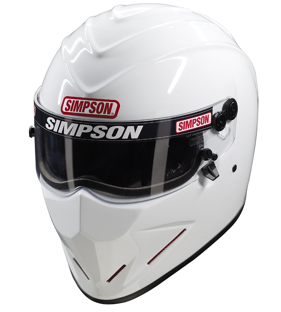 Simpson Diamondback Review Premium Safety Helmet For Racers Helm Glossy Racing Spirit White Blue