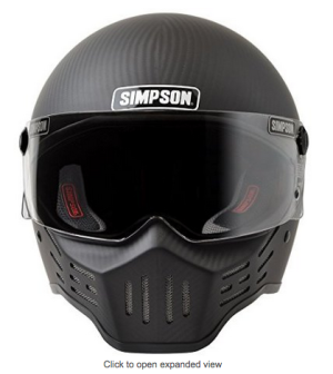 Simpson M30 Bandit DOT Satin Carbon Fiber Motorcycle Helmet