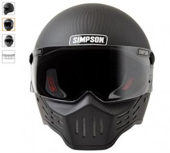Simpson M30 Bandit Satin Carbon Fiber Motorcycle Helmet