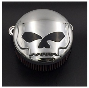 Skull Motorcycle Air Cleaner cover 1