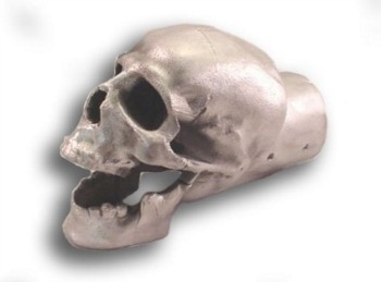 Skull Motorcycle Exhaust Tip 1