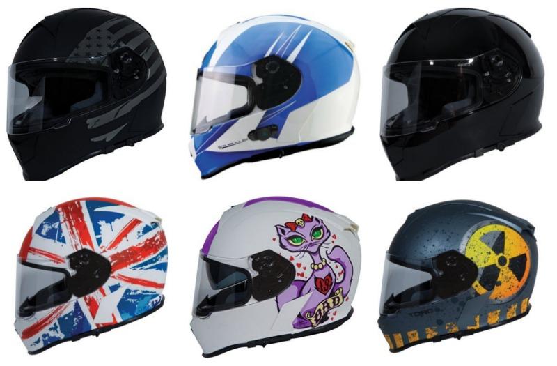TORC T14 Full Face Helmet Variations