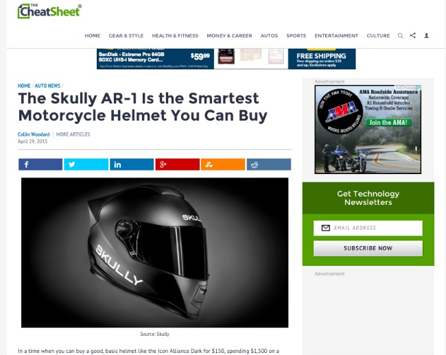 The Skully AR 1 Is the Smartest Motorcycle Helmet You Can Buy