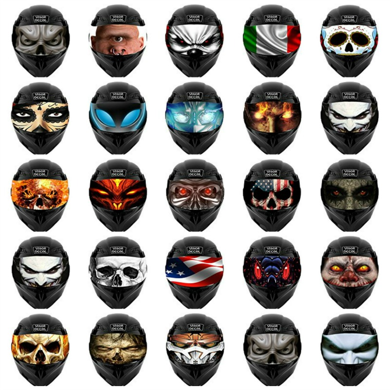 Motorcycle Helmet Visor Decals