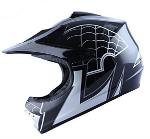 WOW Youth Kids Motocross BMX MX ATV Dirt Bike Helmet Spider Black