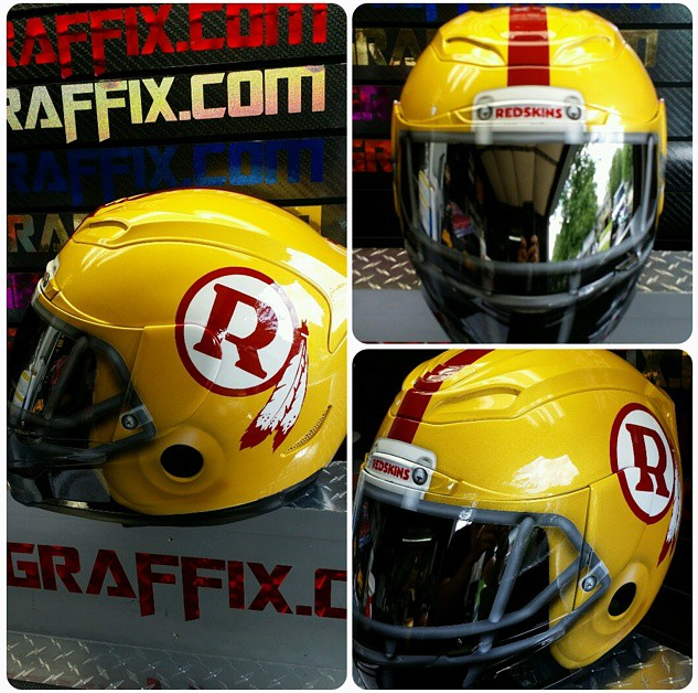 NFL Themed Motorcycle Helmets - The love of Football