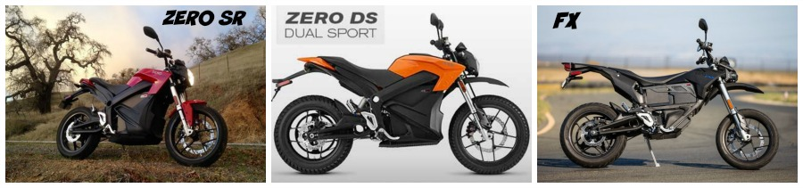 Zero Motorcycle SR DS and FX