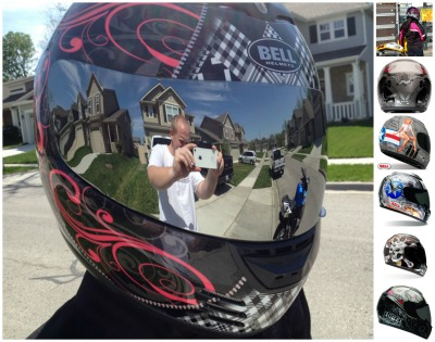 bell arrow motorcycle helmet collage for review