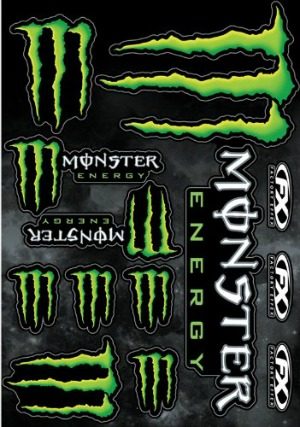 green monster decals for motorcycle graphic kit