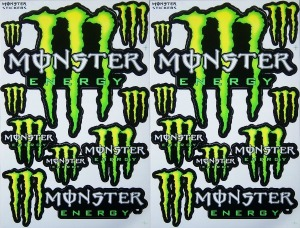 monster stickers motorcycle graphic kit