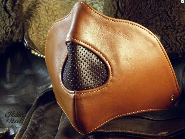 motorcycle leather mask masque cuir moto cafe by HollerandHood