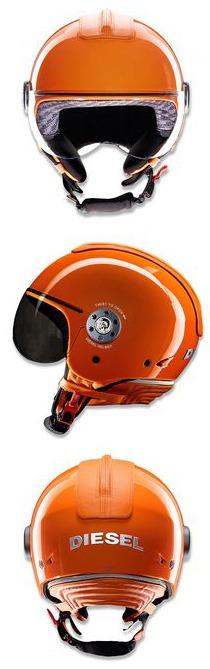 orange mowie diesel helmet