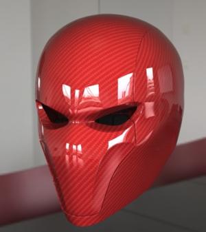 red hood helmet concept