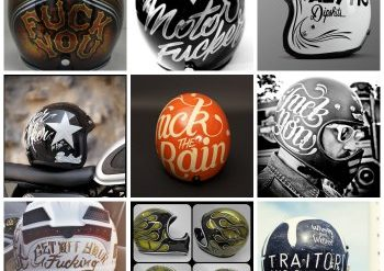 offensive motorcycle helmet collage